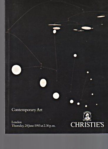 Christies June 1993 Contemporary Art