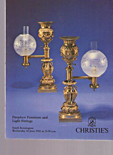 Christies 1992 Fireplace Furniture & Light Fittings