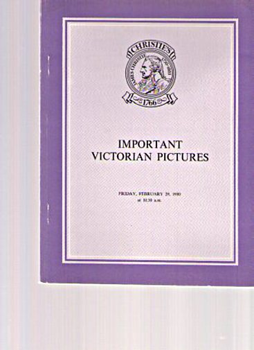 Christies 1980 Important Victorian Pictures