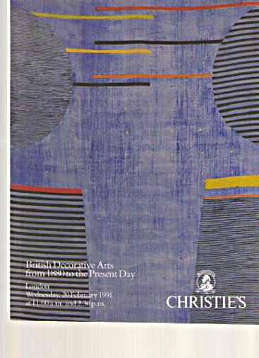 Christies 1991 British Decorative Arts 1880 - present