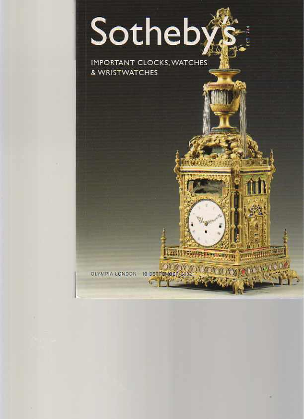 Sothebys 2002 Important Clocks, Watches & Wristwatches