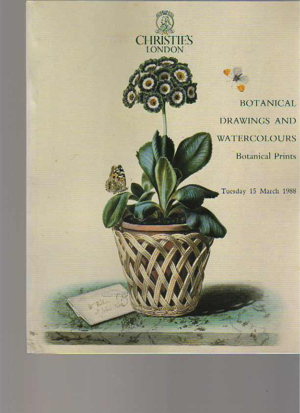 Christies 1988 Botanical Drawings & Watercolours & Prints