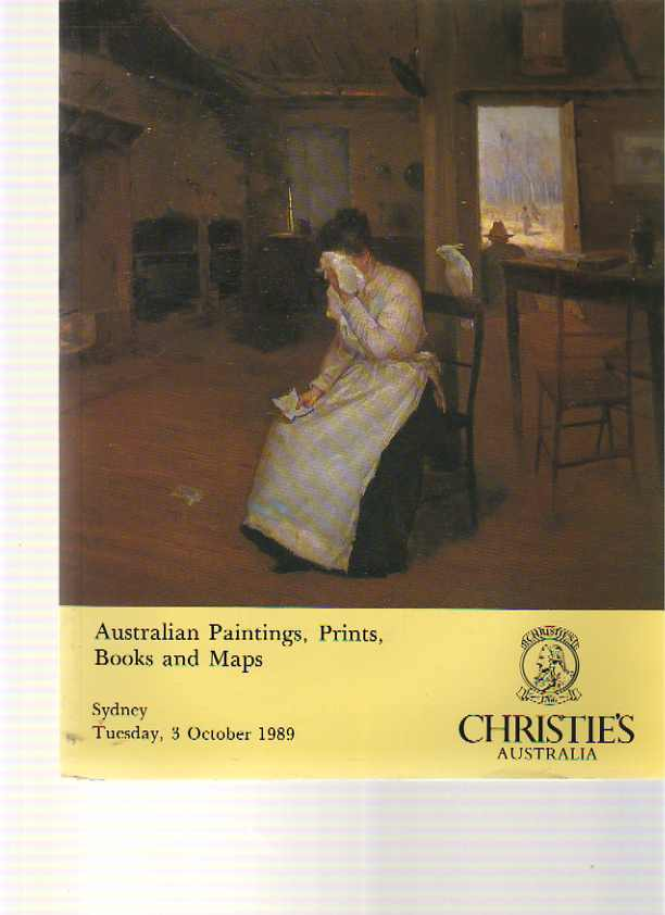 Christies 1989 Australian Paintings, Prints, Books and Maps