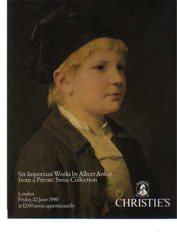 Christies 1990 Six Important Works by Albert Anker