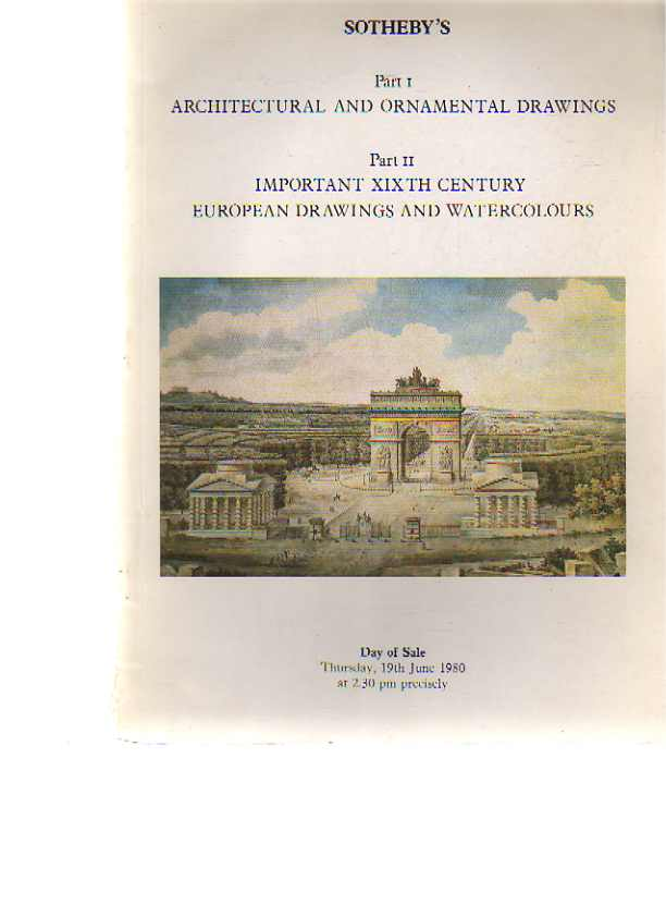 Sothebys 1980 Architectural & Ornamental Drawings