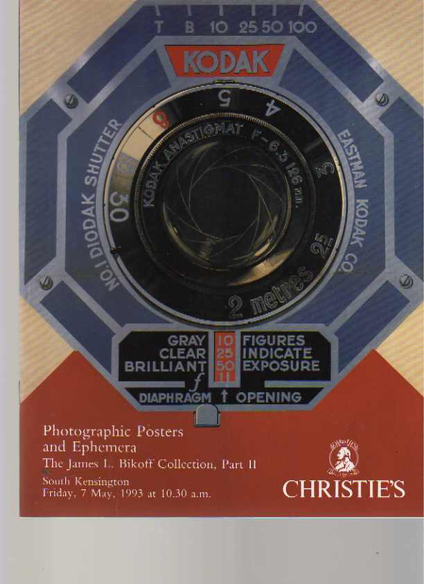 Christies 1993 Bikoff Collection Photographic Posters & Ephemera