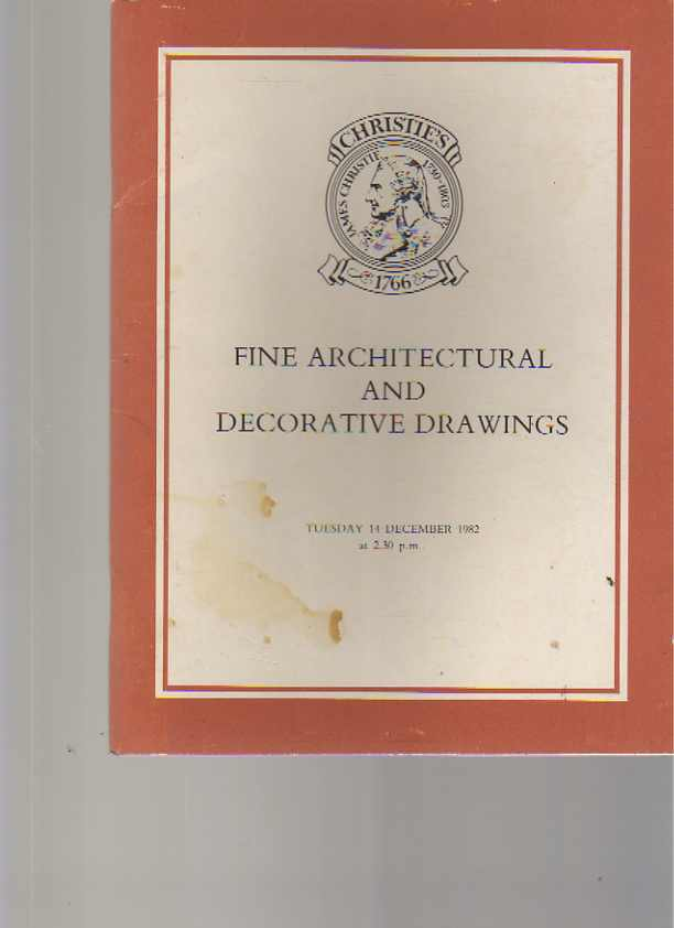 Christies 1982 Fine Architectural & Decorative Drawings