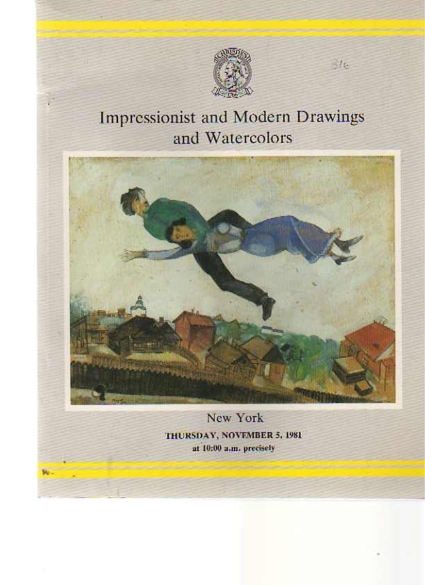 Christies 1981 Impressionist & Modern Drawings & Watercolours