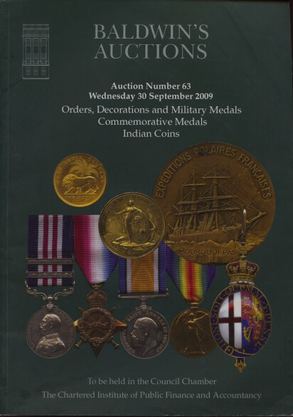 Baldwins 2009 Military Medals, Indian Coins etc