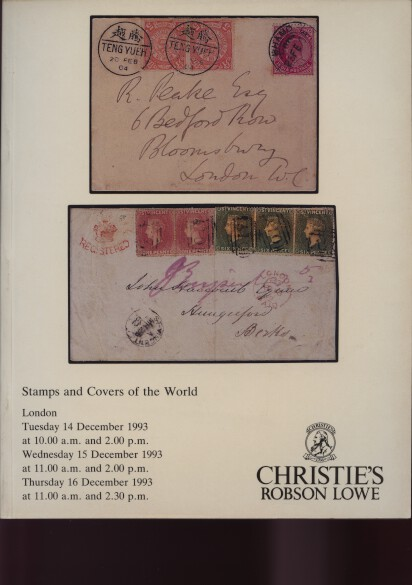 Christies 1993 Stamps and Covers of the World