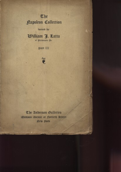 Anderson 1914 The Napoleon Collection of Wm Latta (Pt3)