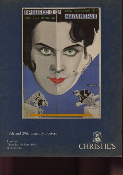 Christies 1991 19th & 20th Century Posters