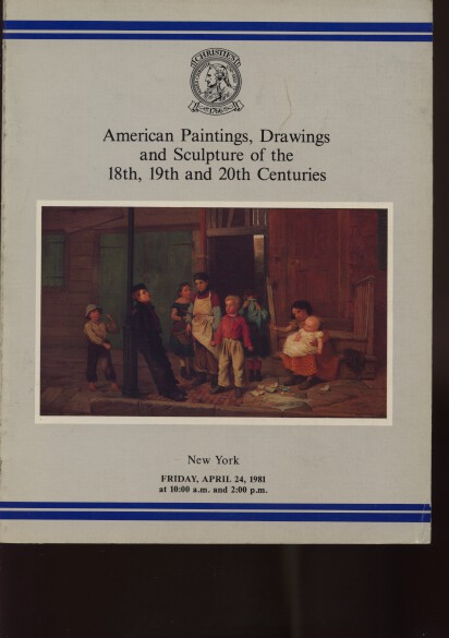 Christies 1981 American Paintings of the 18, 19 & 20th Centuries