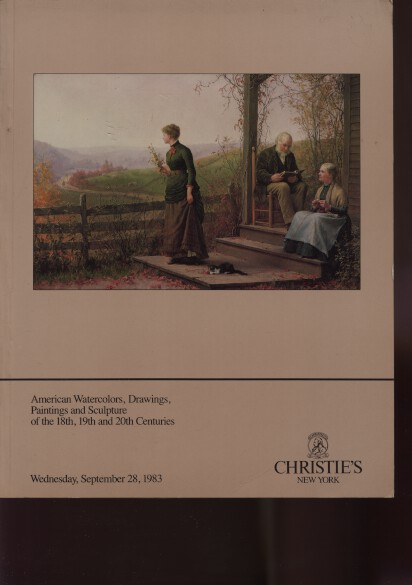 Christies 1983 Important American Paintings 18th, 19th & 20th C