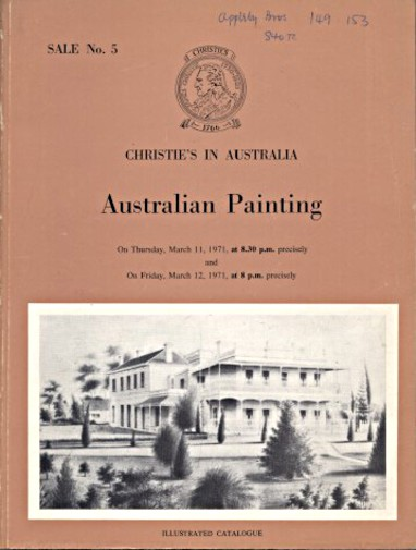 Christies 1971 Australian Painting
