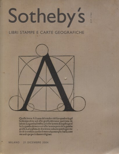 Sothebys December 2004 Books, Prints and Maps