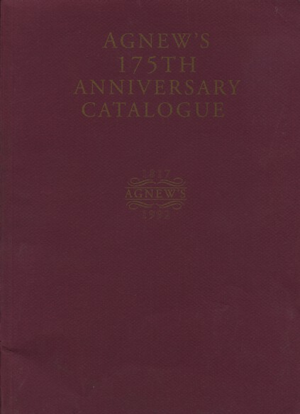 Agnews 1992 175th Anniversary Catalogue with supplement