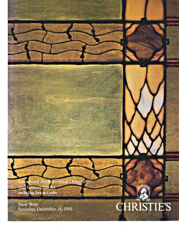 Christies 1991 Important Architectural Designs, Arts & Crafts
