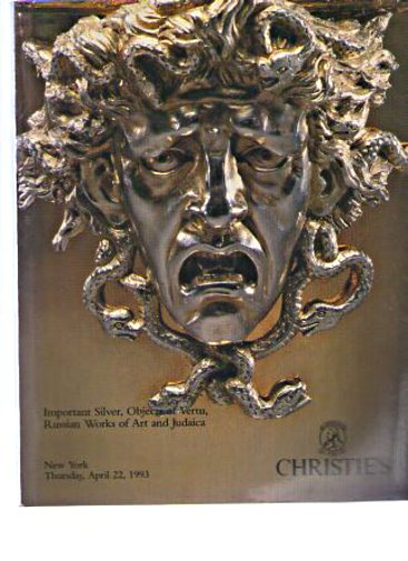 Christies 1993 Important Silver & Russian Works of Art