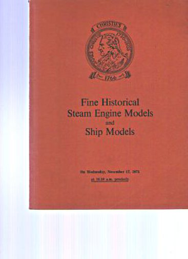 Christies 1971 Historical Steam Engine Models and Ship Models