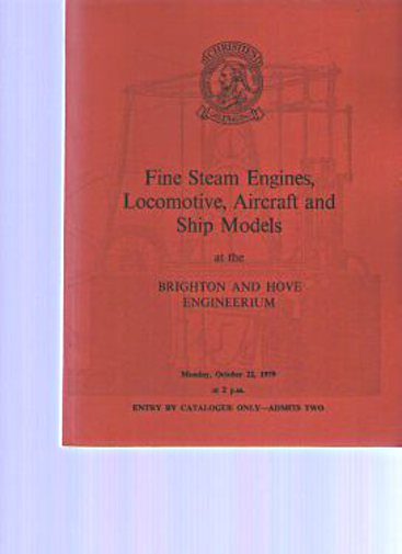 Christies 1979 Steam Engines, Locomotive, Aircraft, Ship Models