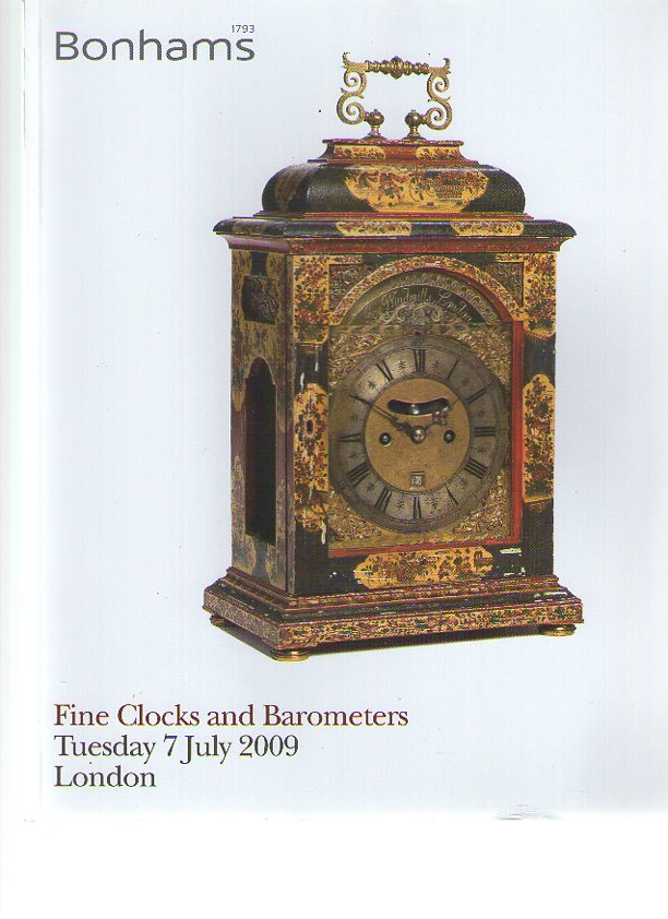 Bonhams July 2009 Fine Clocks and Barometers