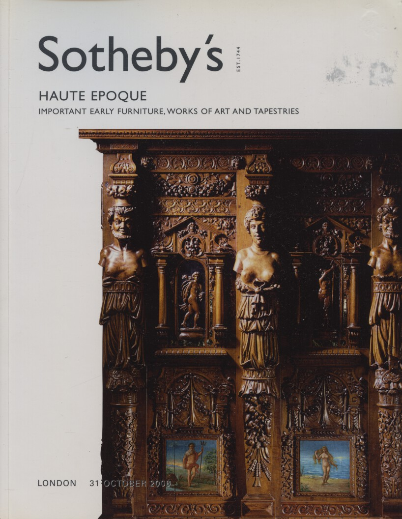 Sothebys 2006 Important Early Furniture & Sculpture