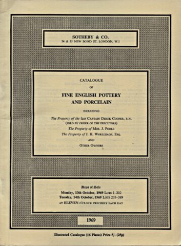 Sothebys October 1969 Fine English Pottery and Porcelain