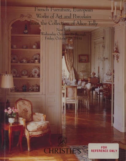 Christies 1994 French Furniture & Tully Collection Porcelain