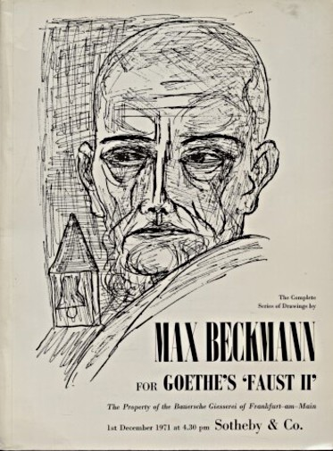 Sothebys 1971 Drawings by Beckmann for Goethe's Faust II