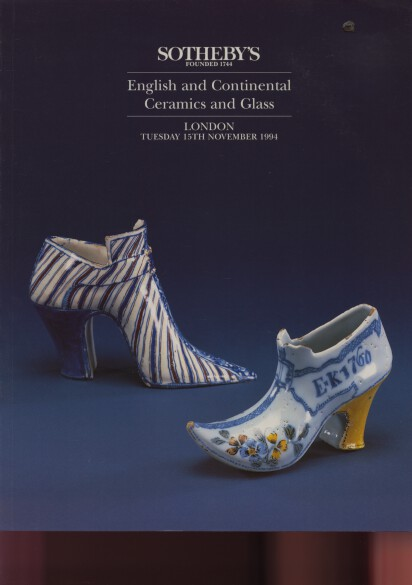 Sothebys November 1994 English & Continental Ceramics & Glass