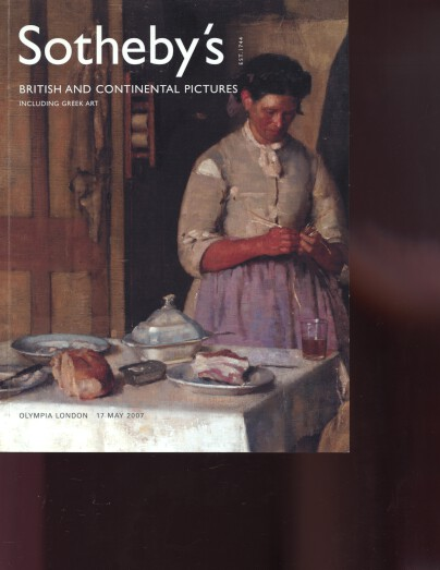 Sothebys 2007 British & Continental Pictures & Greek Art