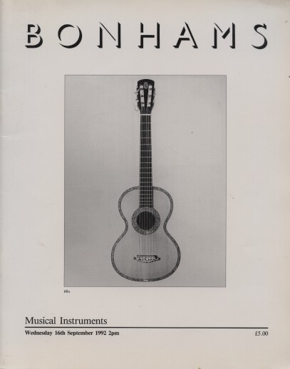 Bonhams 1992 Musical Instruments