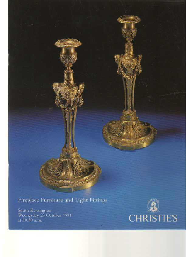 Christies 1991 Fireplace Furniture & Light Fittings