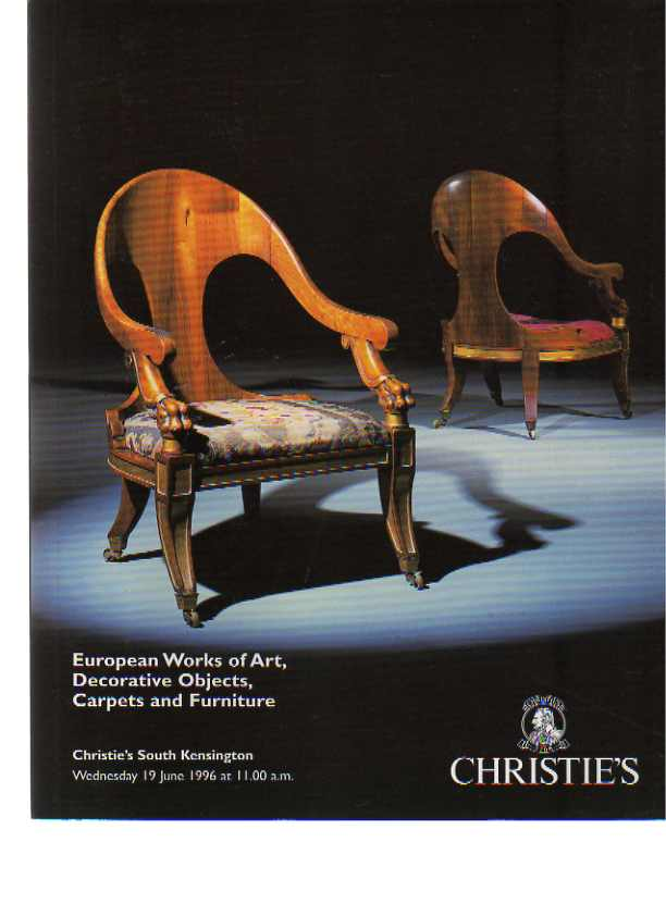 Christies June 1996 European Works of Art, Decorative Objects ...