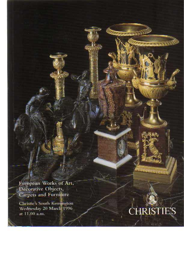 Christies 1996 European Works of Art, Decorative Objects ...