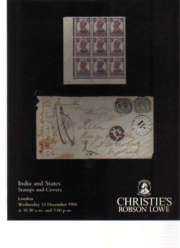 Christies 1995 India & States Stamps & Covers