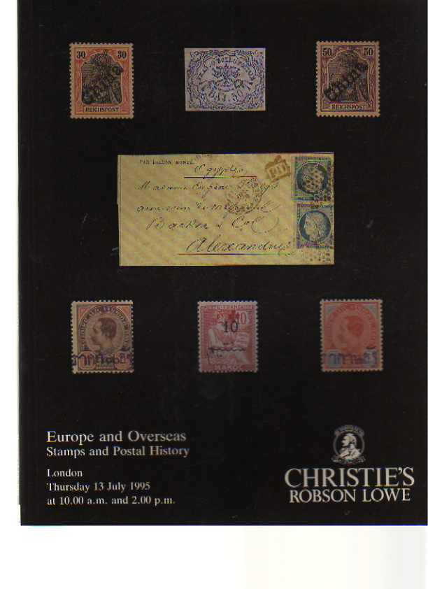 Christies 1995 Europe & Overseas Stamps, Postal History