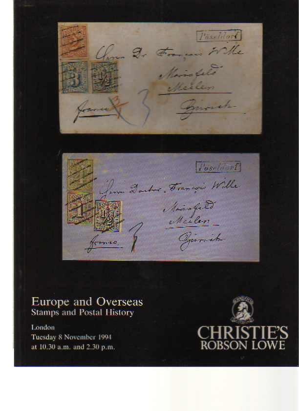 Christies 1994 Europe & Overseas Stamps, Postal History