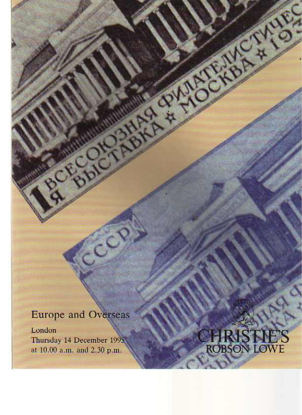 Christies 1995 Europe & Overseas Stamps