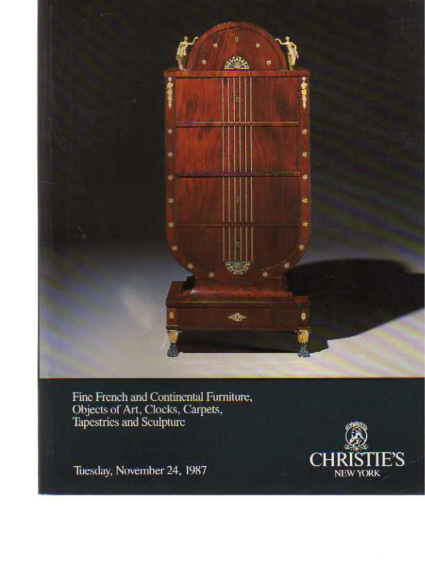 Christies 1987 Fine French & Continental Furniture, ......