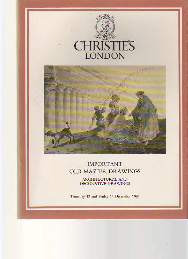 Christies 1984 Important Old Master & Architectural Drawings