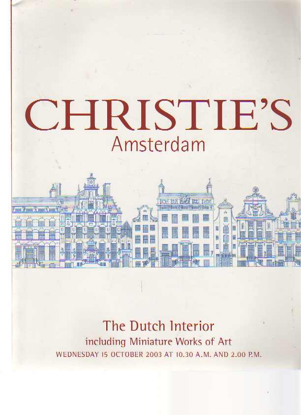 Christies 2003 The Dutch Interior inc. Miniature Works of Art
