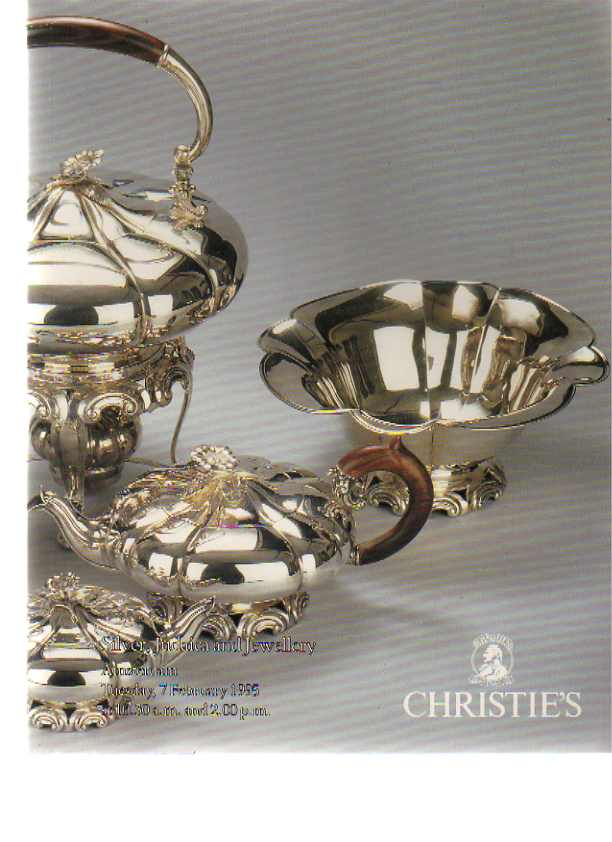 Christies 1995 Silver, Judaica & Jewellery