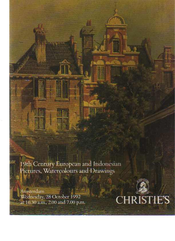 Christies 1992 19th C European & Indonesian Pictures