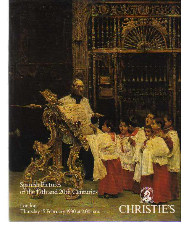 Christies 1990 Spanish Pictures of the 19th & 20th Centuries