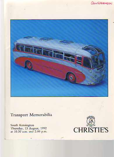 Christies 1992 Transport Memorabilia