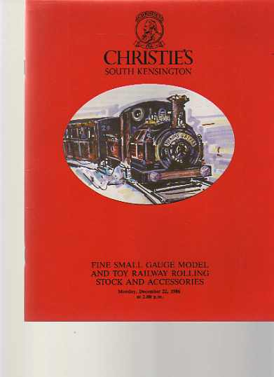 Christies 1986 Fine Small Gauge Model, Toy Railway Rolling Stock