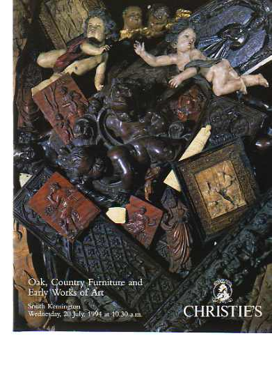 Christies 1994 Oak, Country Furniture & Early WOA