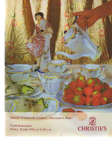 Christies 1994 British 20th Century Decorative Arts